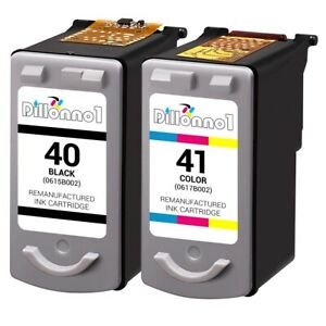 2 PACK For Canon PG-40/CL-41 Ink Combo For PIXMA MX300 MX310 & FAX JX210P Series