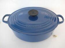 LE CREUSET 29CM LARGE SIZE CASSEROLE DISH STEW POT & LID CAST IRON ENAMEL BLUE