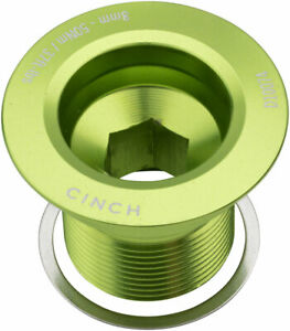 RaceFace CINCH Crank Bolt with Washer - NDS, M18, Gloss Green