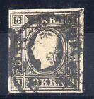 FRANCOBOLLI 1859 AUSTRIA 3 KR USATO B/5521