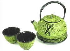 Japanese Cast Iron Tea Set Teapot Teacups Kettle #TS20-06Y S-2109