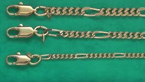 Figarokette Gold-Double 10/000 gestempelt Fußkette Figaro Armband