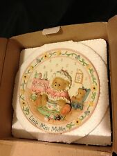 Cher Teddies Little Miss Muffet Nursery Rhyme Plate New In Box Never Opened Mint
