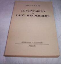 EL ABANICO POR LADY WINDERMERE Oscar Wilde 1957 Rizzoli libro