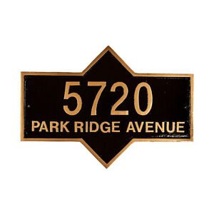 PIEDMONT Address Plaque Lawn Marker House Sign Numbers Wall Custom Made 2 Order