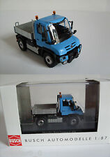 Busch 50901 MERCEDES UNIMOG U430 Blue, H0 Model World Finished Model 1:87