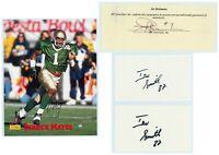 (4) NOTRE DAME Autographs - JOE THEISMANN, MAYES - Photo, Index Cards, Cut Lot