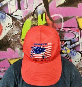 Vintage USA France 1998 FIFA World Cup Retro Football Rare Soccer Old Cap Hat