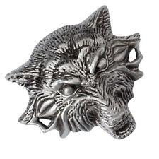 Retro 3D Wolf Head Cowboy Américain Hommes Rodéo Indien Ceinture Boucle e38e25f9426