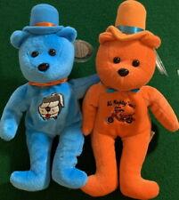 "CELEBRITY BEARS 1999 Star #51 & #52 DUMB & DUMBER Jim Carrey 9"" Plush Beans MWMT"