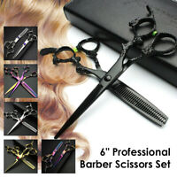Salon Professional Hairdressing Hair Cutting Thinning Shears Barber Scissors Set