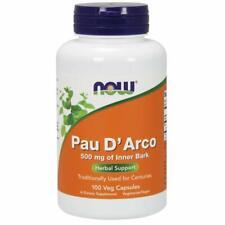NOW Pau D'Arco 500 mg 100 Veg Capsules Free Ship
