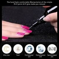 Nail Art Rhinestones DIY Gel Glue UV Adhesives Sticky Crystal Gems Diamond Decor