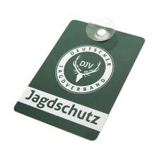 """SONDERPOSTEN /""""Jagdschutz/"""" 3mm PVC-Schild mit Saugnäpfen fürs Auto 5x21cm"""