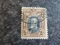 SOUTHERN RHODESIA POSTAGE REVENUE STAMP SG25A 2/- PERF 11 1/2 FINE-USED