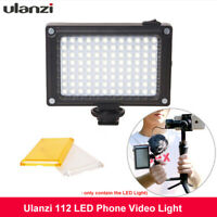 Ulanzi 112 LED Video Light Dimmable Photographic Lamp For Camcorder Camera Canon