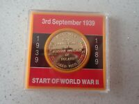 WW2  50th ANNIVERSARY OF THE GERMAN INVASION OF POLAND MEDAL