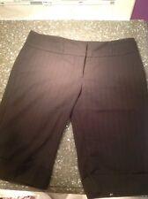 Tracy Evans Black Pinstripe Knee Length Shorts Juniors 9