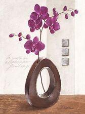 Karsten Kirchner: Pink Grace I Keilrahmen-Bild 40x50 Leinwand Stillleben lila