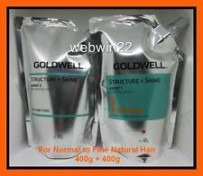 GOLDWELL STRUCTURE + SHINE Regular normal fine hair straightener perm cream set