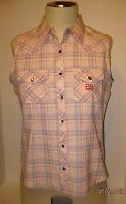 Women's Shirt Bit & Bridle  Sleeveless Snap Up Front Pockets Snap  Size  M