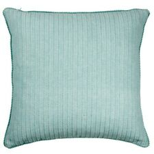 Hamptons Style Una Aqua 50x50cm Pom Pom Edge Cushion Cover RRP $ 29.95