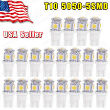 20PCS Super White T10 Wedge 5-SMD 5050 LED Interior Light bulbs W5W 2825 168 194