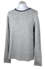 KNOWLEDGE COTTON APPAREL Frottee Pullover Grau Baumwolle Organic Gr. XL