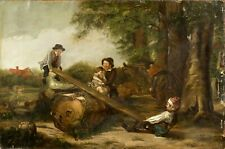 William Hemsley (UK,1819-1906) oil painting