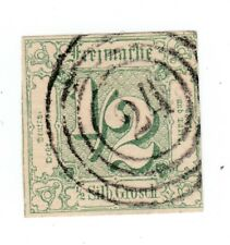 "Thurn and Taxis, Michel No. 14 with stamp"" 24"" gelnhausen, with Orig. invoice"