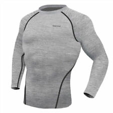 Take Five Mens Skin Tight Compression Base Layer Running Shirt S~2XL Gray NT004