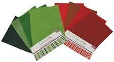 Dovecraft paquete de fieltro de Navidad en tonos de rojos & verdes, 16 hojas, tamaño A4