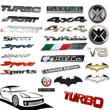 1x Universal Car Metal 3D Emblem Badge Sticker Trunk Fender Decal Accessories