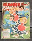 VTG 30s 40s Number Rhymes From 1 To 10 Children's Book Paper Large Cute antique