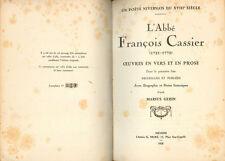 Abbé François CASSIER/OEUVRES EN VERS ET EN PROSE/1928