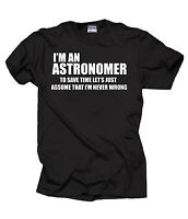 Astronomer T-Shirt Gift For Astronomer Profession Tee Shirt