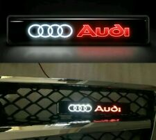 🇬🇧 AUDI Front Grille Badge Led Light Luminous Universal GRILL A3 A4 A5 A6 Q7