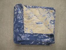 New ListingPottery Barn Blue Floral Size Full / Queen Quilt Rare