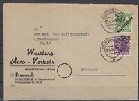 DF8164/ GERMANY SOVIET ZONE EISENACH – MI # 167 + 169 ON COVER SIGNED