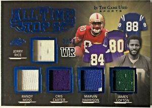 2020 Leaf ITG Used #ATT5-08 Rice Moss Carter Harrison Lofton 5 Patches 3/30