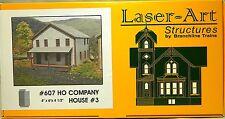 NIB HO Branchline Laser-Art #607 Company House #3 Kit