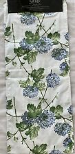 "NWT Ralph Lauren 100% Cotton Blue Hydrangeas Reversible Table Runner 15"" x 72"""