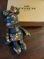 Coach Disney X Minnie Mouse Black Floral Doll Bag Charm F30955  ~Sold Out