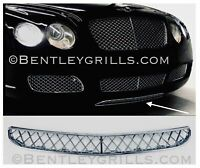 Bentley GT GTC Lower Grille Chrome MANSORY Under Vallance Grill W12 1 Piece