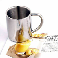 230ml Metal Drinking Coffee Mug Cup Stainless Steel Camping Portable Accessory