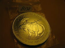 CANADA WILDLIFE MOOSE 2012 1 OZ FINE SILVER $5 COIN  ID#B24