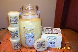 yankee candle 22oz JAR BAKERY AIR + 1 TART + 3 VOTIVES + TEA LIGHTS