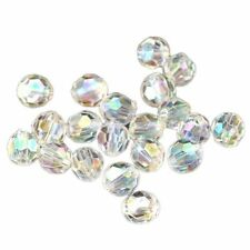 500x Transparent AB Color Round Faceted Acrylic Crystal Spacer Beads 6x6mm V6G1