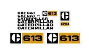 Caterpillar 613 Scraper Elevating Decal Set Tractor Stickers 3M Vinyl Grader CAT