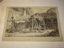 Alexis Nicolas PERIGNON (NANCY 1726-1782) GRAVURE XVIII PAYSAGE ANIME LORRAINE c